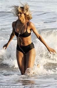 ciara shows   curves   black bikini  leather