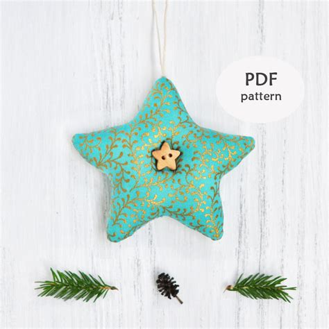 star sewing pattern christmas ornament patterns fabric star