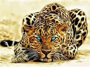 Leopard, Art, Abstract, 3d
