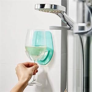 Watt, Plastic, Wine, Glass, Holder, For, The, Bath, Shower, Red, Wine, Glass, Holder, Bathroom, Storage, Rack