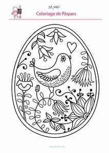 Coloriage De Paque : coloriage de l 39 oeuf de p ques l 39 oiseau ~ Melissatoandfro.com Idées de Décoration