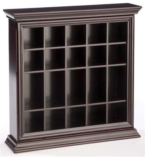 Shot Glass Cabinet Mahogany Wooden   Countertop or Wall