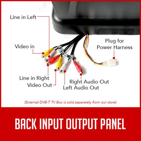 Flip Dvd Player Wiring Diagram by 12 1 Inch Car Roof Mount Dvd Player Flip Monitor 12v