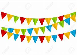 Bunting clipart festival - Pencil and in color bunting ...