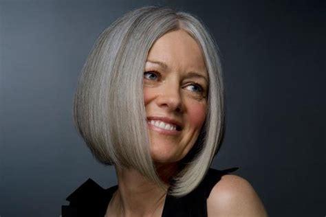 Hairstyles For Women Over 60 Round Asymmetrical Bob