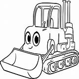 Coloring Backhoe Bulldozer Pages Printable Getcolorings sketch template