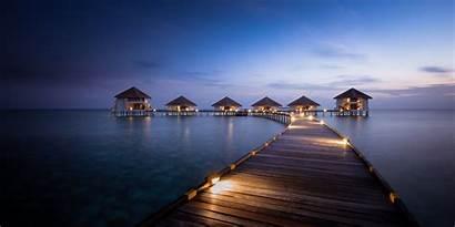Maldives Beach Sunrise Tropical Summer Landscape Resort