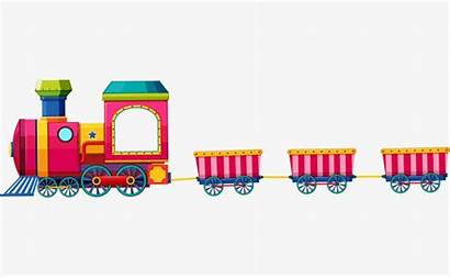 Train Cartoon Clipart Toy Clip Transparent Psd