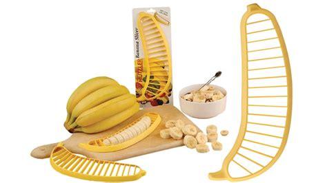 gadget cuisine du gadget dans la cuisine avec le découpe banane ubergizmo