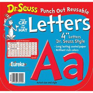 dr seuss punch out reusable red letters 4in holidays With punch out letters