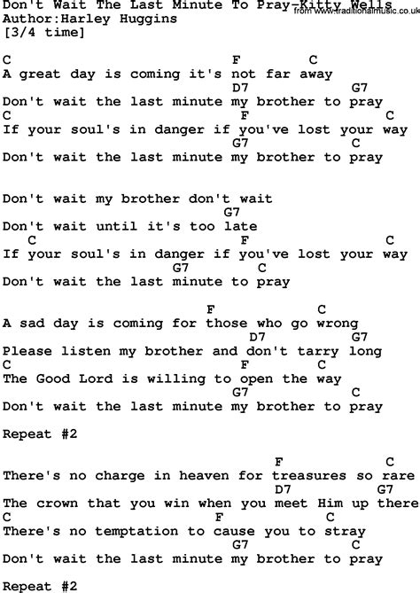 Country Musicdont Wait The Last Minute To Pray Kitty