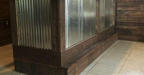 pallet bar  galvanized metal putting  bar top
