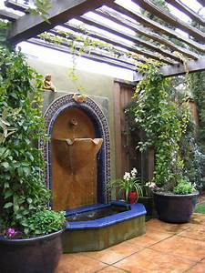 Terrific outdoor wall fountains clearance decorating ideas for Outdoor patio fountains