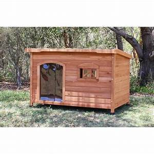 Aspen insulated wooden kennel extra large dog house buy for Insulated dog houses for large dogs