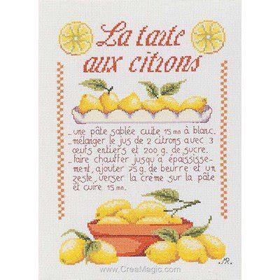 broderie cuisine kit broderie la tarte aux citrons coeur
