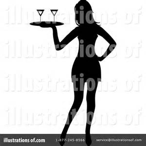Waitress Clipart #1122017 - Illustration by Pams Clipart