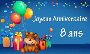 Texte Anniversaire 1 An Garçon : carte anniversaire enfant 8 ans virtuelle gratuite ~ Melissatoandfro.com Idées de Décoration