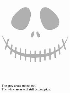 1000 images about pumpkin stencils on pinterest With jack skellington face template