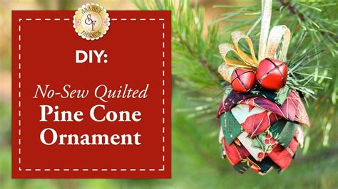 diy  sew quilted pine cone ornament  shabby fabrics