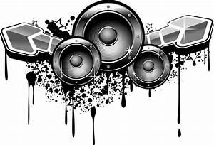 Music grunge for modern design in graffiti style Stock