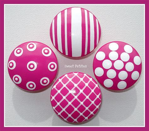 pink decorative dresser knobs painted knob dresser drawer or nail cover pink
