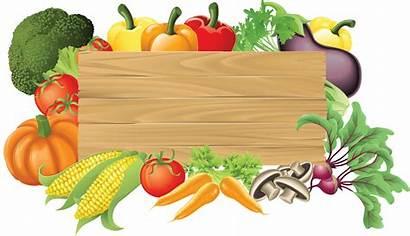 Vegetable Vegetables Clipart Garden Vector Fresh Borders