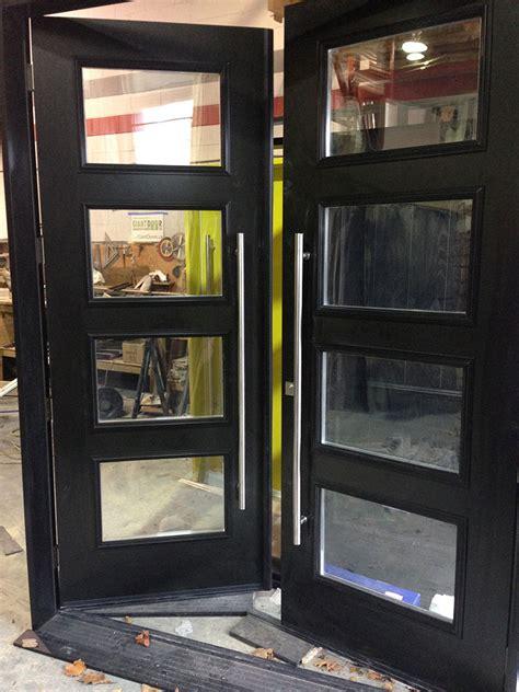fiberglass doors modern fiberglass  foot doors   door clear door lites  stainless steel
