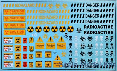 models decal toxic waste barrels label plastic