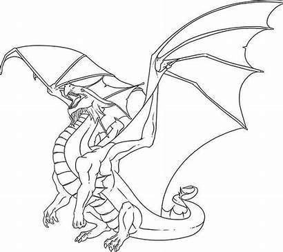 Dragon Template Coloring Anime Printable Dragons Pages