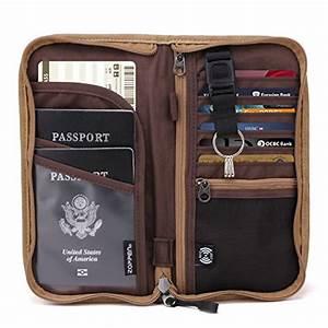 zoppen rfid travel wallet documents organizer zipper With family passport document case