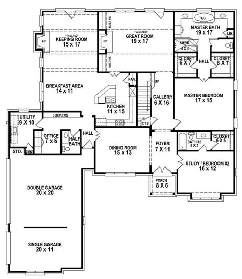 home house plans 5 bedroom house plans floor plans for 5 bedroom homes