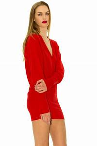 sweater dress in red cashmere stefanie renoma With look robe pull