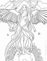Coloring Pages Fantasy Selina Fenech Printable Getcolorings Highest sketch template