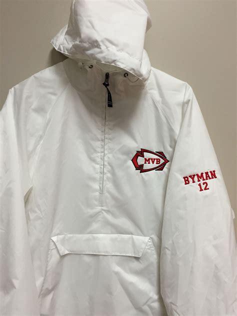 embroidered logo  jacket     sleeve