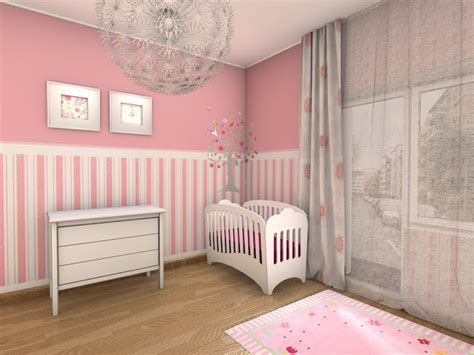 papier peint chambre fille chambre bébé fille en gris et 27 belles idées à