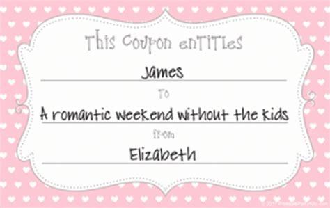 printable love coupons  coupon templates