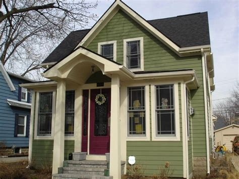 image result for painted brown board and batten exterior