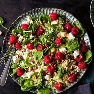 Spinat Als Salat : fruchtiger couscous salat mit spinat und himbeeren ~ Orissabook.com Haus und Dekorationen