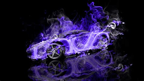ferrari  italia super fire flame smoke car  ino