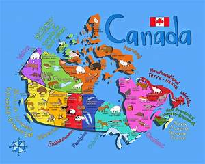 Its's a jungle in here!: Kids Map Of Canada