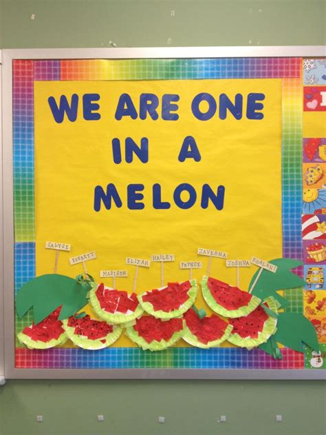 preschool bulletin board ideas for august fairytales from 818 | 211711616dfc93ed868e8a0a93de2042 watermelon crafts classroom design