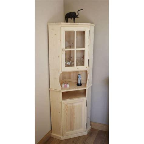 meubles de cuisine en bois brut a peindre meuble d 39 angle en bois brut 52 5x52 5x175cm achat