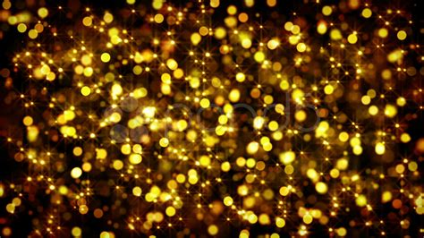 gold bokeh circles and stars loop stock video 11241547