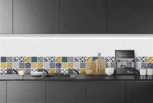 Crédence Carreaux De Ciment Adhesif : cr dence adh sive mix mosa que 10 walivintage 40 x 200 ~ Premium-room.com Idées de Décoration