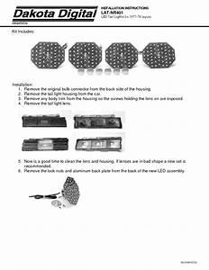 Led Tail Lights Lat-nr401 Manuals
