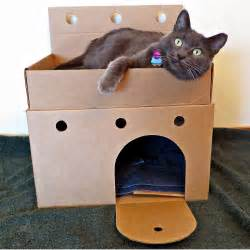 cardboard cat carrier better than a box how about a cardboard cat castle