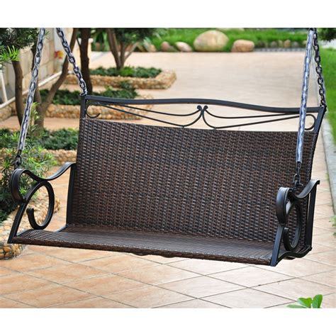 Loveseat Swing Outdoor international caravan lisbon resin wicker patio loveseat