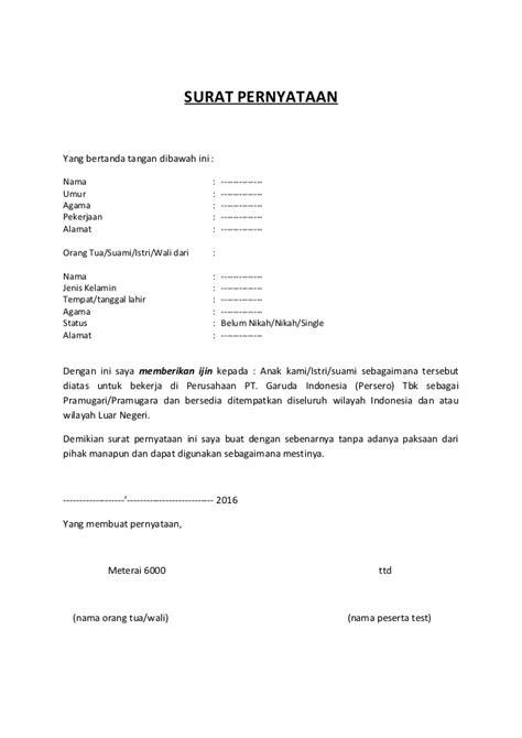 contoh surat pernyataan ditinggal suami contoh