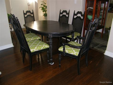 black distressed kitchen table and chairs table category
