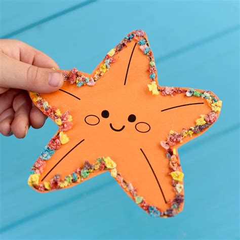 animal craft with fruity pebbles make lovely 558 | Ocean animal craft with free printable